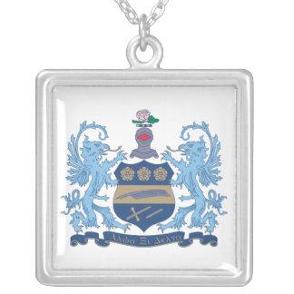 Alpha Xi Delta Crest Color Square Pendant Necklace