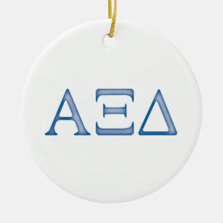 Alpha Xi Delta Letters Ceramic Ornament