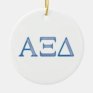 Alpha Xi Delta Letters Christmas Ornaments