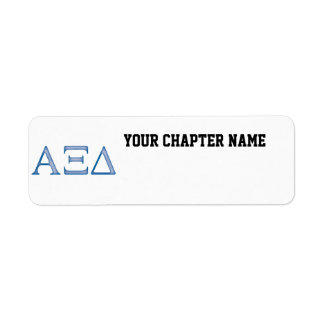 Alpha Xi Delta Letters Label