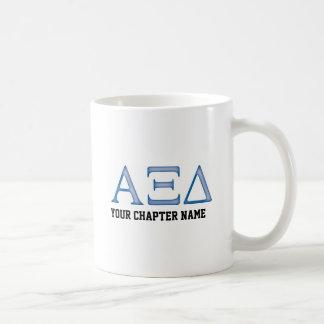 Alpha Xi Delta Letters Classic White Coffee Mug