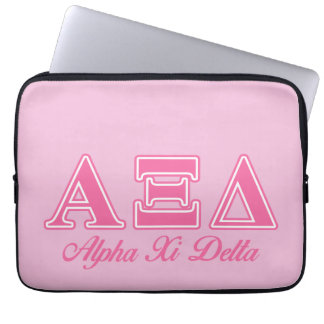 Alpha Xi Delta Pink Letters Computer Sleeves