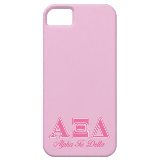 Alpha Xi Delta Pink Letters iPhone 5 Cover