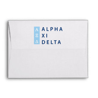 Alpha Xi Delta Stacked Envelope