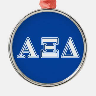 Alpha Xi Delta White and Blue Letters Ornaments