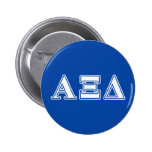 Alpha Xi Delta White and Blue Letters Pinback Button