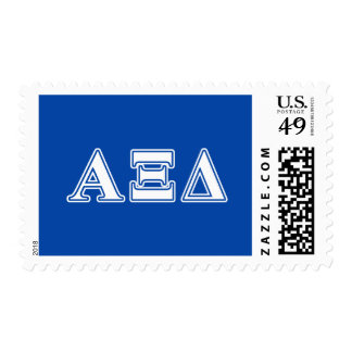 Alpha Xi Delta White and Blue Letters Stamp