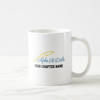 Alpha Xi Delta with Quill Classic White Coffee Mug