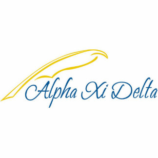 Alpha Xi Delta with Quill Statuette