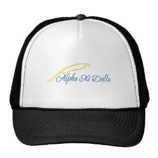 Alpha Xi Delta with Quill Trucker Hat