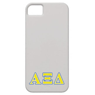 Alpha Xi Delta Yellow and Blue Letters iPhone 5 Cover