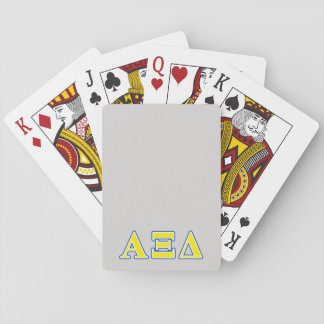 Alpha Xi Delta Yellow and Blue Letters Playing Cards