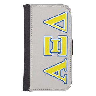 Alpha Xi Delta Yellow and Blue Letters Phone Wallet Case