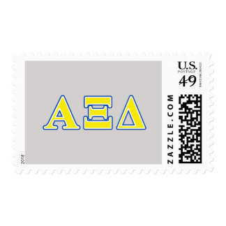 Alpha Xi Delta Yellow and Blue Letters Stamps