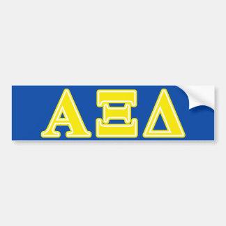 Alpha Xi Delta Yellow Letters Bumper Sticker