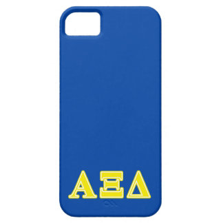 Alpha Xi Delta Yellow Letters iPhone 5 Covers