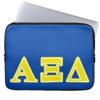 Alpha Xi Delta Yellow Letters Laptop Computer Sleeve