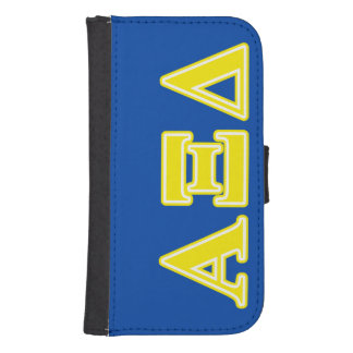 Alpha Xi Delta Yellow Letters Phone Wallets