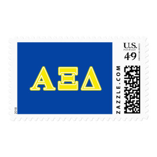Alpha Xi Delta Yellow Letters Stamp