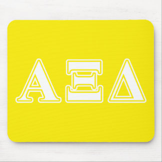 Alpha Xi Detla White and Yellow Letters Mouse Pad