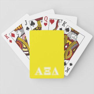 Alpha Xi Detla White and Yellow Letters Poker Cards