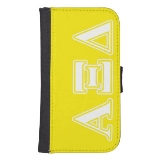 Alpha Xi Detla White and Yellow Letters Phone Wallet Cases