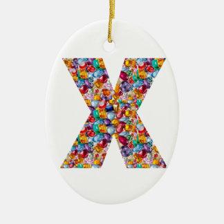 Alpha xxx ooo ttt lll GIFTS Jewel Fashion x o t l Christmas Tree Ornament