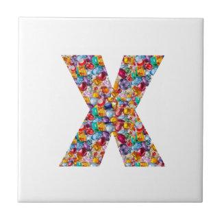 Alpha xxx ooo ttt lll GIFTS Jewel Fashion x o t l Ceramic Tile