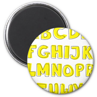 Alphabet 2 Inch Round Magnet