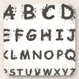 Alphabet a blot coaster