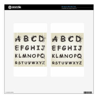 Alphabet a blot kindle fire skin