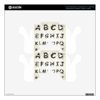 Alphabet a blot PS3 controller decal