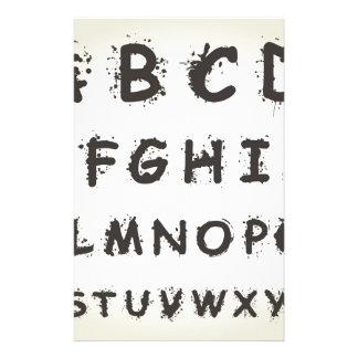 Alphabet a blot stationery