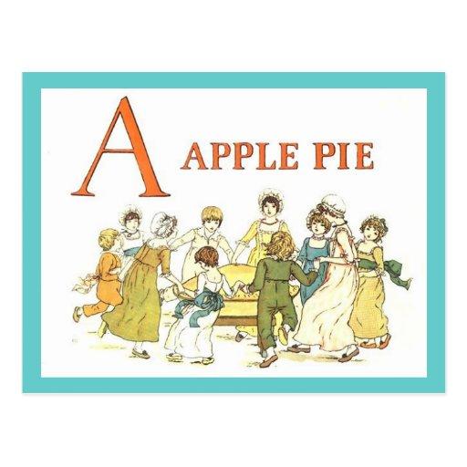 Alphabet A is for Apple Pie Recipe Card Postcard