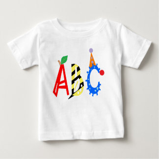 Alphabet ABC Apple Bee Clown Infant Shirt