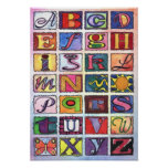 Alphabet ABC 's poster art Baby room Art