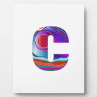 Alphabet ALPHA CCC Photo Plaques