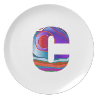 Alphabet ALPHA CCC Party Plate