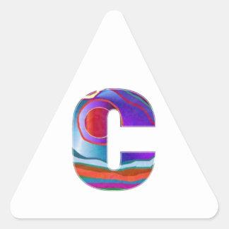 Alphabet ALPHA CCC Triangle Sticker