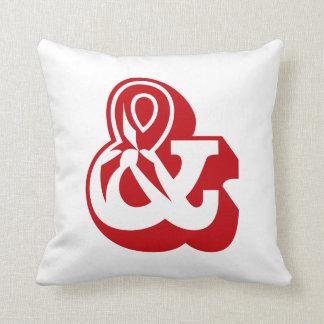 "Alphabet Ampersand ""AND"" & English ABC Throw Pillow"