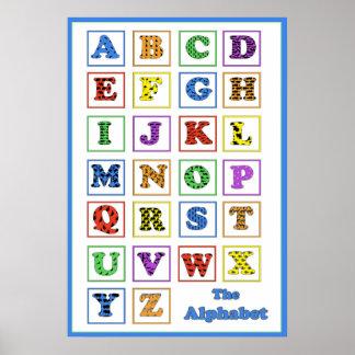 Alphabet Animal Silhouettes Poster