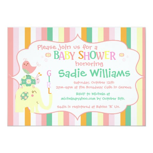 alphabet animals baby shower invitation zazzle