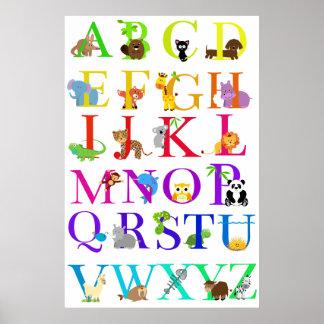 Alphabet Animals Poster