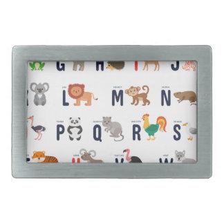 Alphabet Animals - super cute! Belt Buckle
