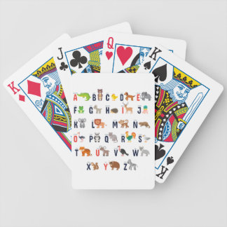 Alphabet Animals - super cute! Bicycle Playing Cards