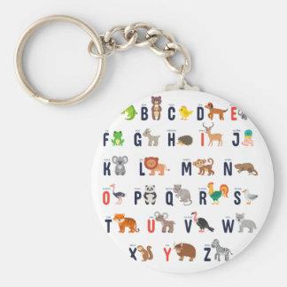 Alphabet Animals - super cute! Keychain