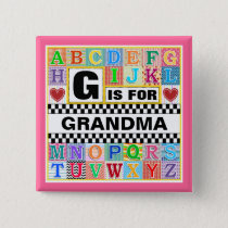 Alphabet Art for Grandma Button
