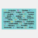 alphabet awakening to zesty rectangular stickers