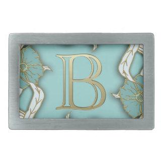 alphabet b monogram belt buckle