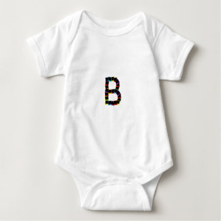 Alphabet B with colorful Baby Bodysuit